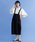 merlot(メルロー)の「コットンワークサロペットスカート2167(サロペット/オーバーオール)」|ブラック