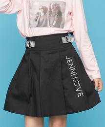 JENNI love(ジェニィラブ)のギンガムリボン付きスカート(スカート)