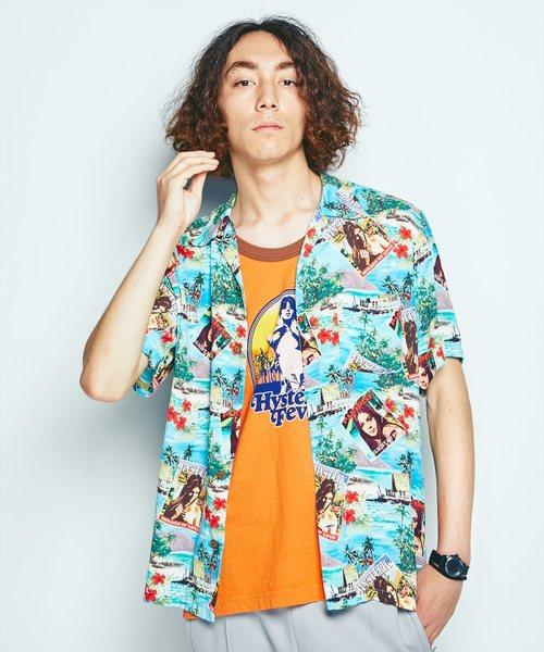 ISLAND DREAMS総柄 アロハシャツ