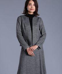 INED(イネド)のノーカラーストレッチジャケット(スーツジャケット)