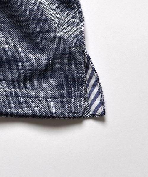 SHIPS JET BLUE:スラブカノコ ポロシャツ◇