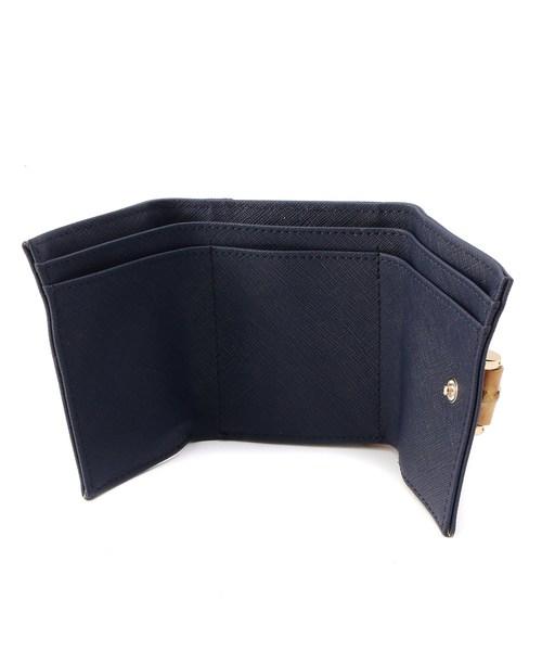 バンブーモチーフ3つ折り財布
