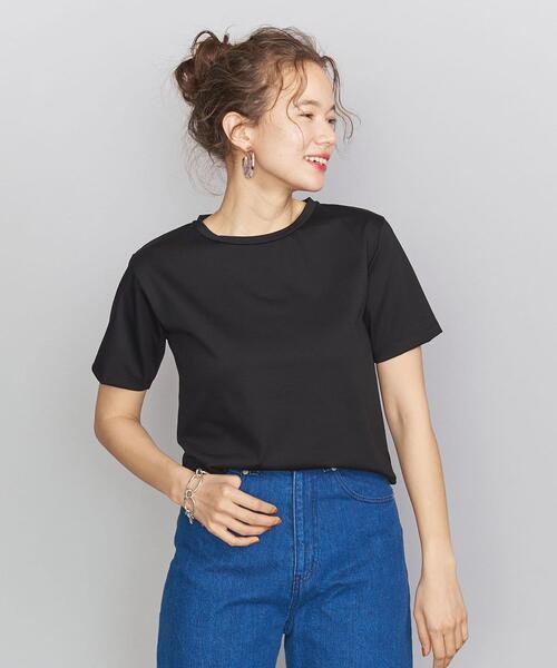 BY コットンクルーネックTシャツ