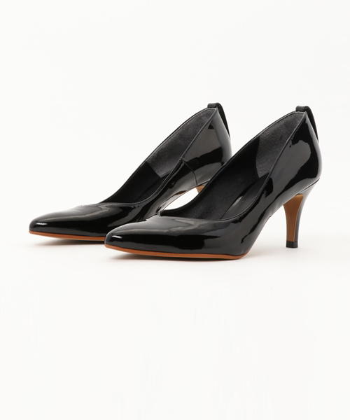 PATENT LEATHER POINTED TOE パンプス
