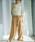 select MOCA(セレクトモカ)の「ハイウエストリネンワイドパンツ/ビックポケットリボンベルト付きリネンブレンドワイドパンツ(パンツ)」|詳細画像