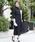kana(カナ)の「ウエストシャーリング スカラネックロングワンピース / 結婚式ワンピース・お呼ばれパーティードレス(ワンピース)」 ブラック