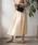 TIENS ecoute(ティアンエクート)の「エアリータックギャザースカート(スカート)」|ベージュ