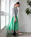 TIENS ecoute(ティアンエクート)の「エアリータックギャザースカート(スカート)」|グリーン