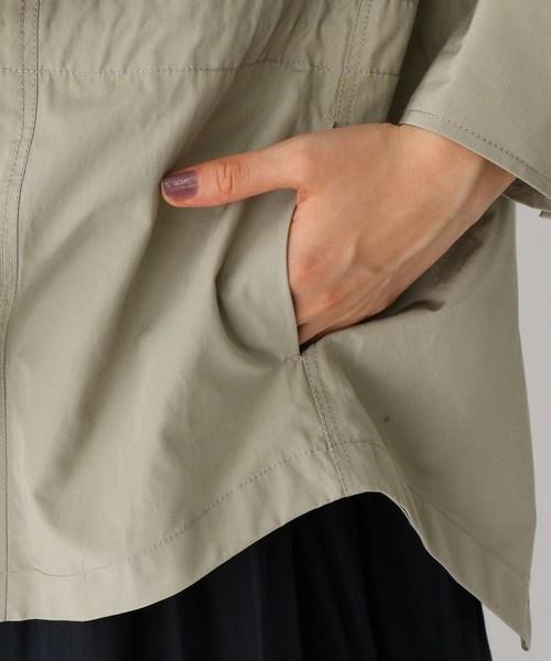 シルキータフタワーク シャツジャケット