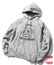 Levi's(リーバイス)のLevi's(R) x Stranger Things グラフィックフーディー CAMP KNOW WHERE HEATHER GREY(パーカー)