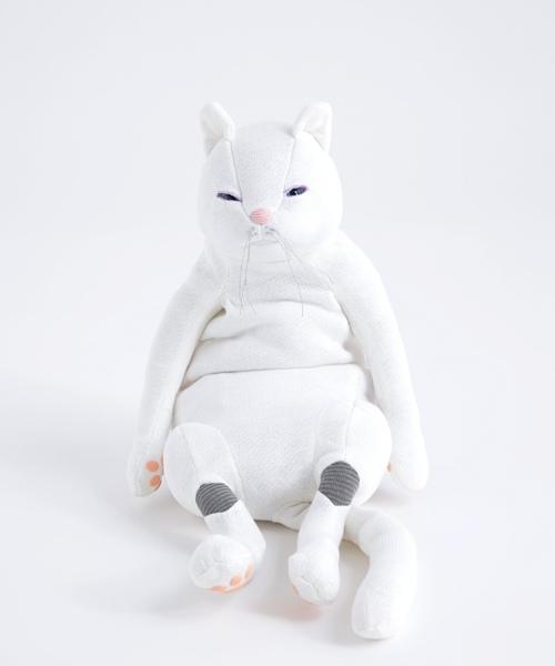 猫 ぬいぐるみ ホワイト