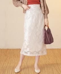 natural couture(ナチュラルクチュール)のレースアップタイトスカート(スカート)