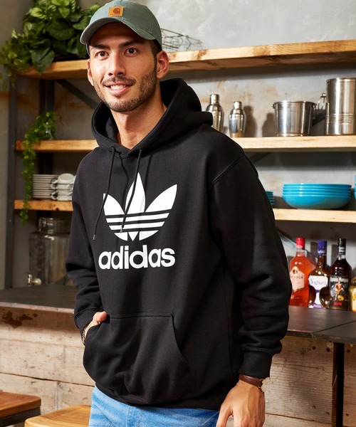 adidas/アディダス トレフォイル フーディー オーバーサイズ プルオーバーパーカー / TREFOIL HOODIE
