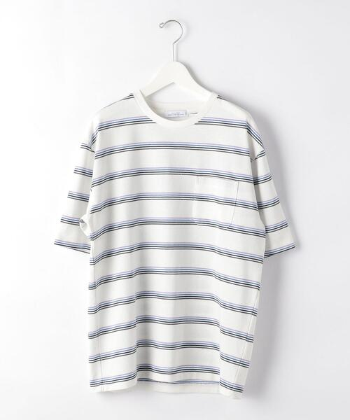 SC FTP RECY ボーダー クルーネック �T Tシャツ カットソー