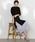 LAUTREAMONT(ロートレアモン)の「【WEB別注】セット企画  スリットワンピースとプリーツスカートのレイヤードスタイル(ワンピース)」 詳細画像