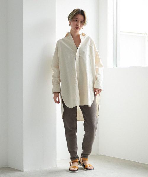 綿リネンカポック 羽織シャツ