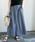 URBAN RESEARCH ROSSO WOMEN(アーバンリサーチ ロッソ)の「リネンデニムフレアースカート(デニムスカート)」|ライトインディゴブルー