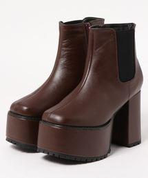 Mafmof(マフモフ)のMafmof(マフモフ) 厚底サイドゴアショートブーツ(ブーツ)