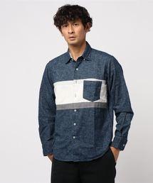 ikka(イッカ)の*ネルパネル切り替えシャツ(シャツ/ブラウス)