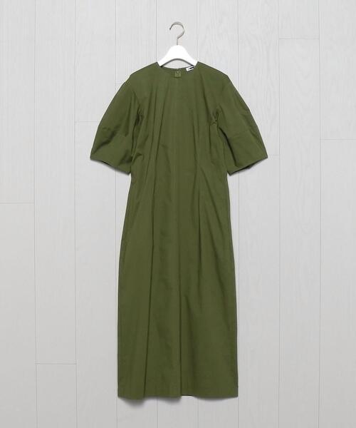 <H>COTTON BROAD BALLOON SLEEVE DRESS/ワンピース