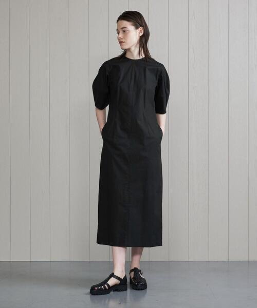 <H>COTTON BROAD BALLOON SLEEVE DRESS/ワンピース