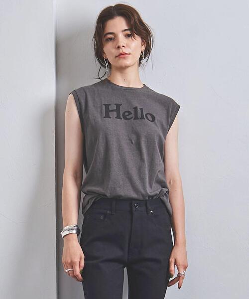 <MADISON BLUE(マディソンブルー)>HELLO ロゴ ノースリーブTシャツ 21AW ■■■