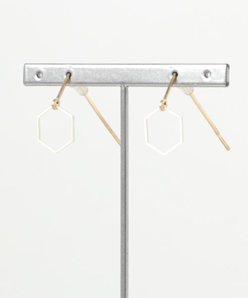 TONE SELECT GOODS(トーンセレクトグッズ)の「PAPERMAKE/ ペーパーピアス Paper pierced earring 14kgf  0002 (ピアス(両耳用))」|ホワイト