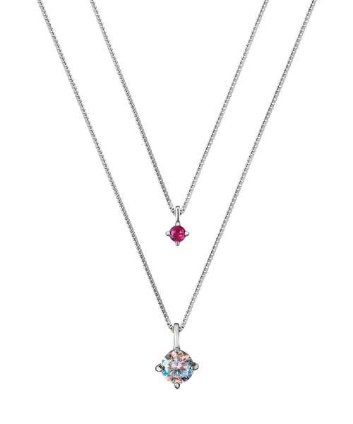 RubinRosa(ルビンローザ)の「【Rubin Rosa】ルビンローザ 3way シルバーネックレス(ネックレス)」|ピンク