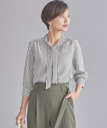 WORK TRIP OUTFITS GREEN LABEL RELAXING(ワークトリップアウトフィッツグリーンレーベル リラクシング)の【WORK TRIP OUTFITS】BC ボウタイ ブラウス �C(シャツ/ブラウス)