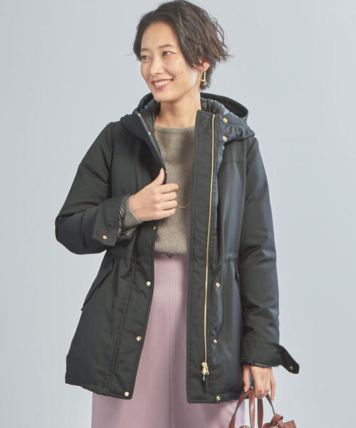 【WORK TRIP OUTFITS】グリーンダウン ZIPブルゾン