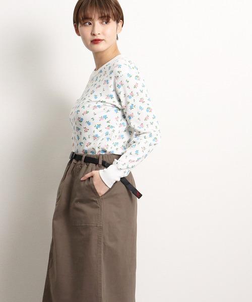 【 HealthKnit / ヘルスニット 】ベーシックワッフル花柄クルーネック長袖Tシャツ 608L SIP