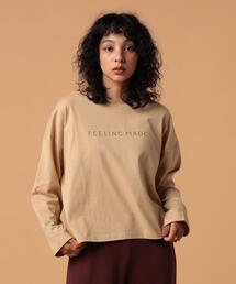 FEELING MADE ロゴプリント ロングスリーブ Tシャツ