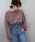 tiptop(ティップトップ)の「ボリューム袖ビッグTシャツ(Tシャツ/カットソー)」|ダークグレー