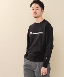 【女性にもオススメ】Champion(チャンピオン)ロゴプリントベーシッククルーネックスウェットシャツ