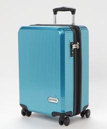Wホイールキャリーケース 50cm 容量40L 軽量  拡張式ファスナーブルー