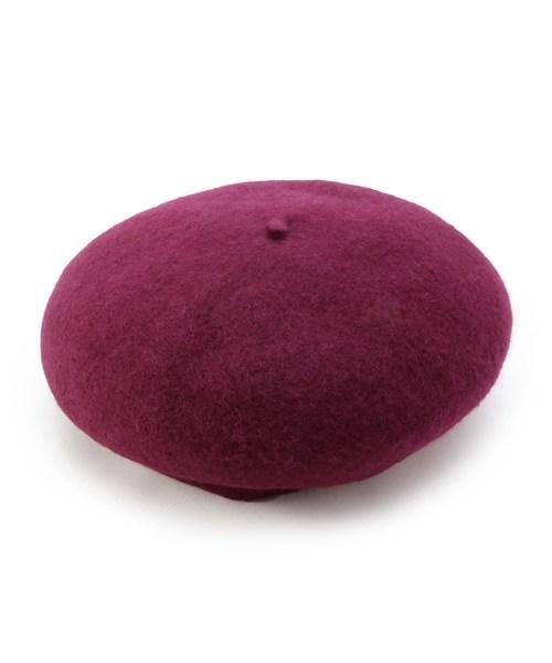 DRESKIP(ドレスキップ)の「バスクベレ帽(ハンチング/ベレー帽)」 ワインレッド