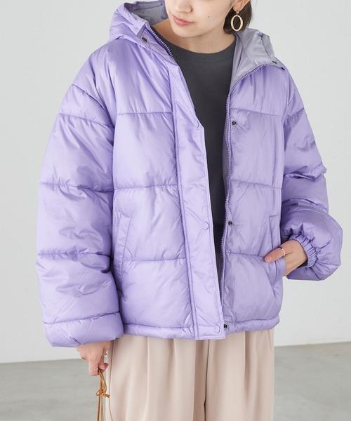 カラー中綿フードショート丈ブルゾン【ZOZOTOWN限定アイテム】