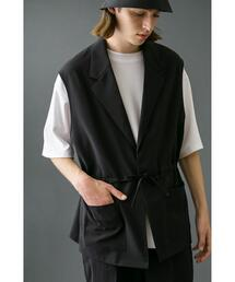 <monkey time> PE TRO BUTTON LESS LAPEL VEST/ベスト