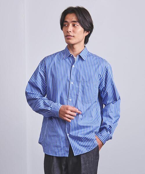 <UNITED ARROWS> トーマスメイソン ストライプ レギュラーカラーシャツ