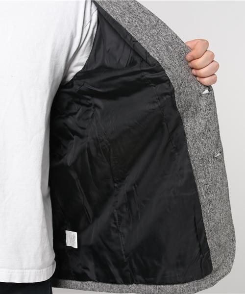 ツイード2Bテーラードジャケット(キングサイズ)