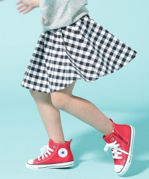 【coen キッズ / ジュニア】ギンガムチェックスカパン(ストレッチ入り)/キュロットスカート/スカッツ(100〜150cm)