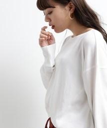 OZOC(オゾック)の[洗える]サーマルヘンリーチュニック(Tシャツ/カットソー)