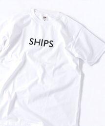 SHIPS(シップス)のSU: 【SHIPS】 エンブロイダリー ロゴ Tシャツ(Tシャツ/カットソー)