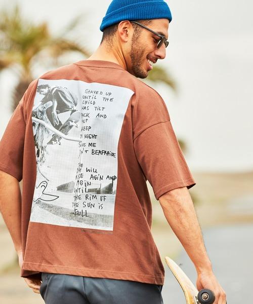 Mark Gonzales/マークゴンザレス 【BARK MANHATTAN別注】 ビッグシルエット背面BIGフォトプリント 半袖Tシャツ