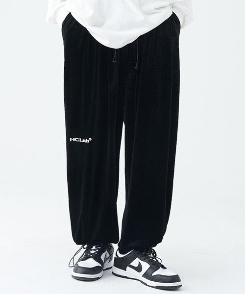 【Harsh and Cruel】【2021AW】Velvet Loose Pants HC21S48