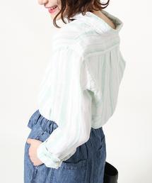 【2WAY】フレンチリネンシャツ