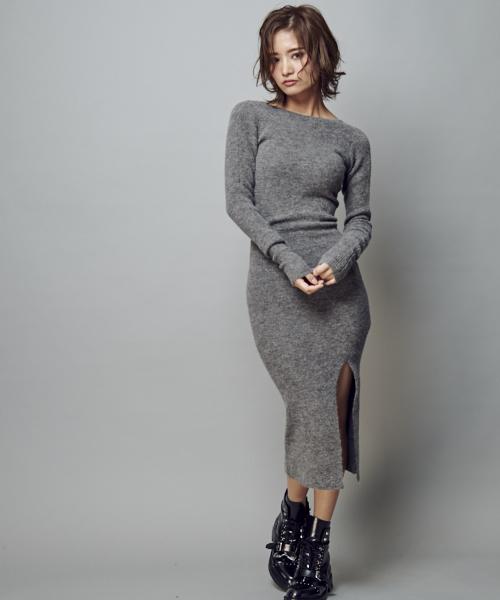 SEDONA DRESS | リブニットワンピ