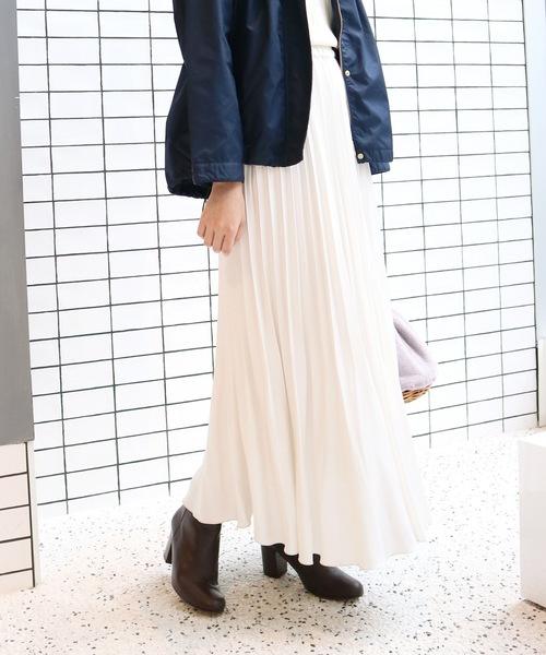 SLOBE IENA(スローブイエナ)の「サテンプリーツスカート◆(スカート)」|ナチュラル