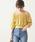 natural couture(ナチュラルクチュール)の「レースシャーリングショートブラウス(シャツ/ブラウス)」|イエロー