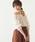 natural couture(ナチュラルクチュール)の「レースシャーリングショートブラウス(シャツ/ブラウス)」|アイボリー